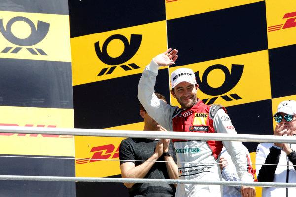 Podium: secon place Mike Rockenfeller, Audi Sport Team Phoenix.