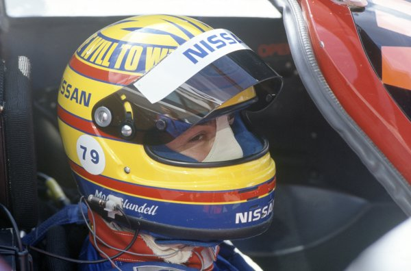 1990 Le Mans 24 Hours. Le Mans, France. 20th - 21st June 1990. Mark Blundell  (Nissan R90K) retired, portrait. World Copyright: LAT Photographic. ref: 90LM09.