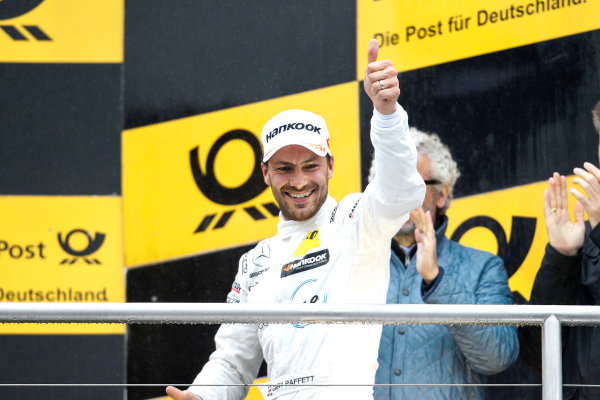 2017 DTM Round 1 Hockenheim, Germany. Sunday 7 May 2017. Podium: second place Gary Paffett Mercedes-AMG Team HWA, Mercedes-AMG C63 DTM World Copyright: Alexander Trienitz/LAT Images ref: Digital Image 2017-DTM-R1-HH-AT1-3683