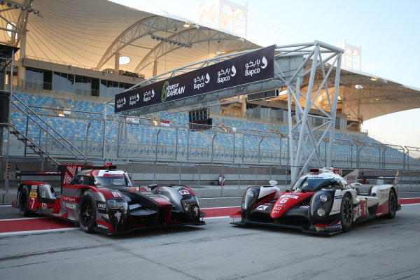 2016 FIA World Endurance Championship Rookie Test, Bahrain International Circuit, 20th November 2016, Audi and Toyota farewell World Copyright. Jakob Ebrey/LAT Photographic