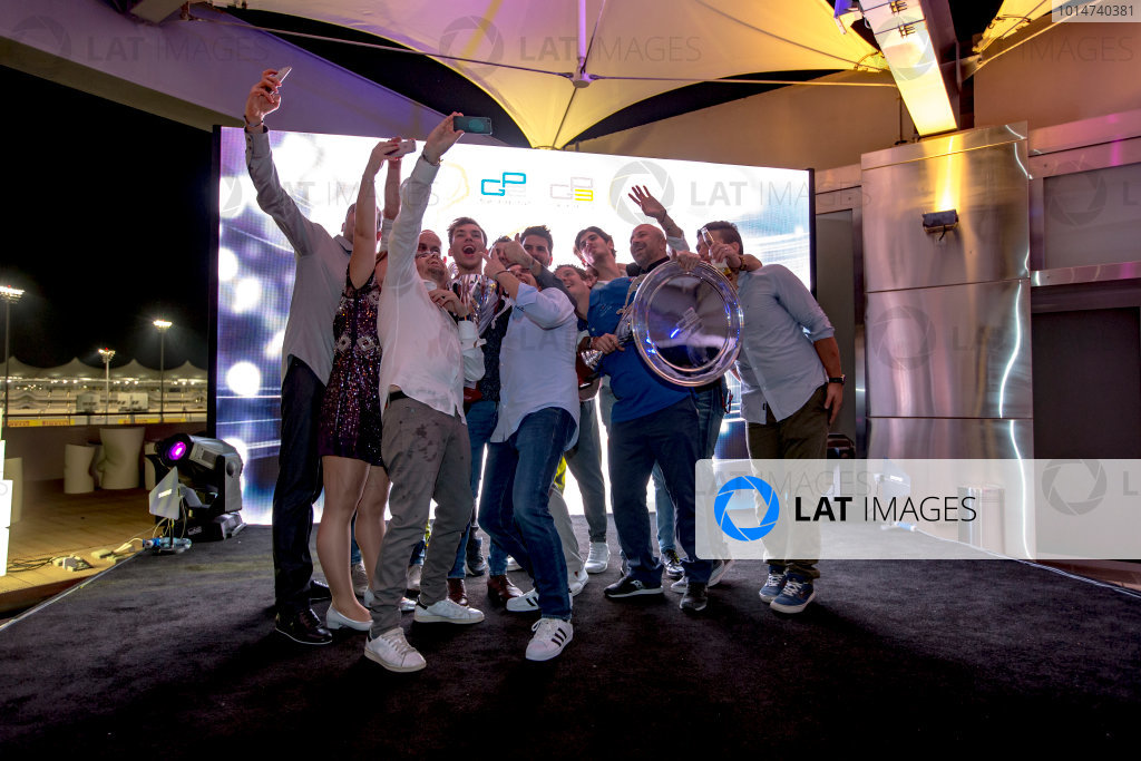 2016 GP2/3 Awards Evening. Yas Marina Circuit, Abu Dhabi, United Arab Emirates. Sunday 27 November 2016.Antonio Giovinazzi (ITA, PREMA Racing), Pierre Gasly (FRA, PREMA Racing)  Photo: Zak Mauger/GP2 Series Media Service/GP3 Series Media Service. ref: Digital Image _L0U2145