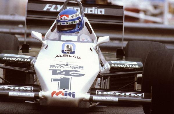 Monte Carlo, Monaco.12-15 May 1983.Keke Rosberg (Williams FW08C Ford) 1st position.Ref-83 MON 14.World Copyright - LAT Photographic