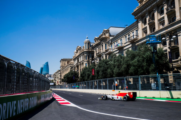 2017 FIA Formula 2 Round 4. Baku City Circuit, Baku, Azerbaijan. Friday 23 June 2017. Robert Visoiu (ROU, Campos Racing)  Photo: Zak Mauger/FIA Formula 2. ref: Digital Image _54I9357