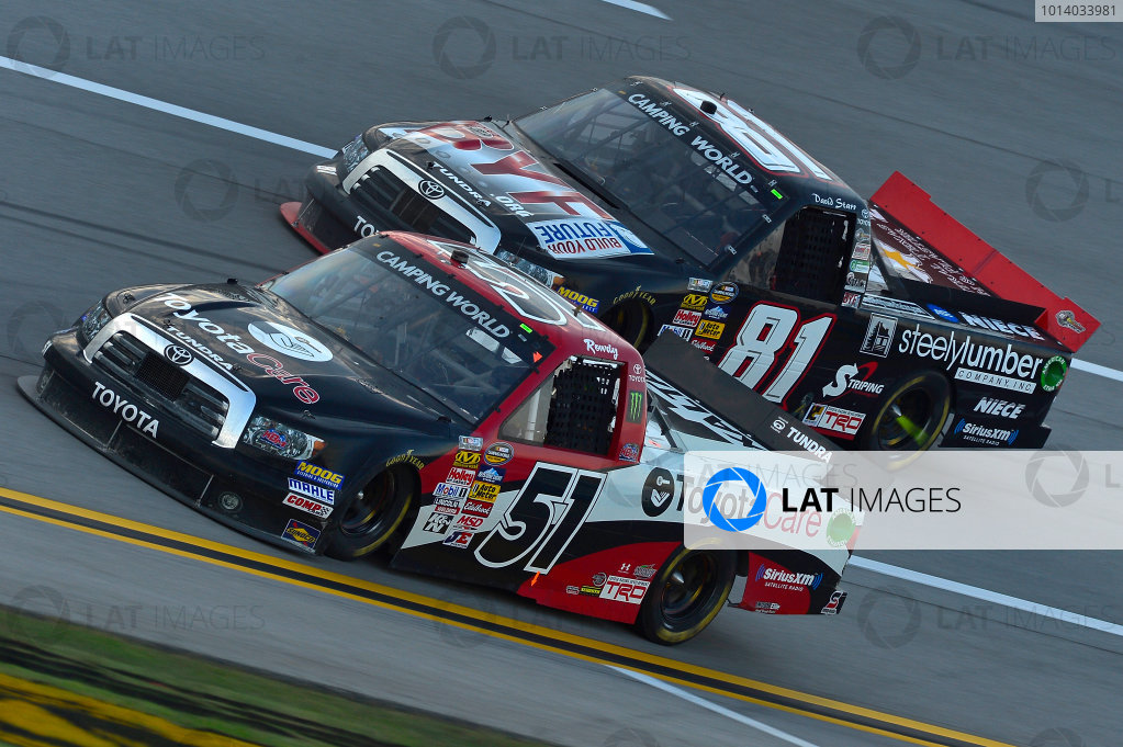October 18-19, 2013, Talladega, Alabama USA Kyle Busch and David Starr trucks © 2013, Brian Czobat LAT Photo USA