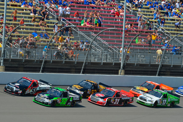 August 16-17, 2013, Brooklyn, Michigan USA Kyle Busch and Miguel Paludo pack © 2013, Brian Czobat LAT Photo USA