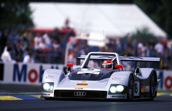 Emanuele Pirro (ITA) / Frank Biela (GER) / Didier Theys (BEL) Audi R8R finished in 3rd place. Le Mans 24 Hours, Le Mans, France, 12-13 June 1999. BEST IMAGE