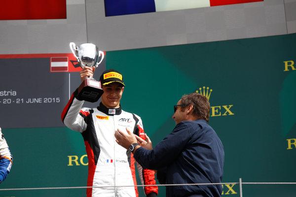 2015 GP3 Series Round 2. Red Bull Ring, Spielberg, Austria. Sunday 21 June 2015. Esteban Ocon (FRA, ART Grand Prix)  Photo:  Sam Bloxham/GP3 Media Service ref: Digital Image _G7C5910