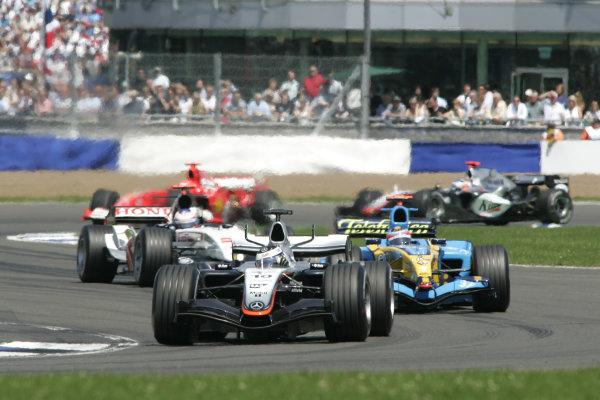 2005 British Grand Prix,Juan Pablo Montoya (Col), McLaren-Mercedes, Silverstone, Grand Prix, 10th July 2005 World copyright: Jakob Ebrey/LAT Photographic.
