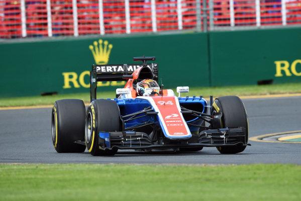 Pascal Wehrlein (GER) Manor Racing MRT05 at Formula One World Championship, Rd1, Australian Grand Prix, Race, Albert Park, Melbourne, Australia, Sunday 20 March 2016.