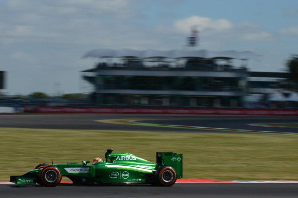 Robin Frijns (NED) Caterham CT05. Formula One World Championship, Rd9, British Grand Prix, Practice, Silverstone, England, Friday 4 July 2014.