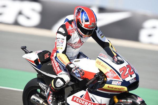Sam Lowes, Gresini Racing, brakedown.