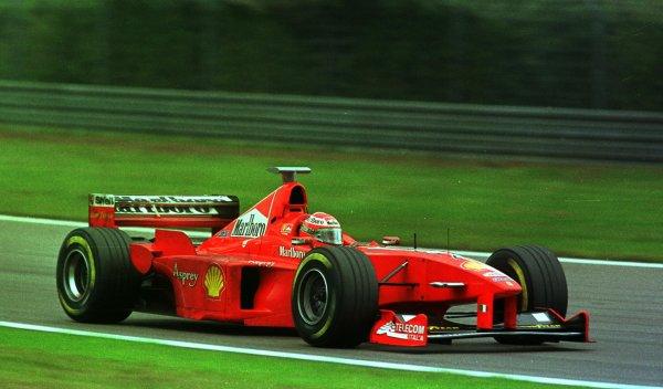 1998 Luxembourg Grand PrixNurburgring, Germany. 25-27 September 1998.Eddie Irvine (Ferrari F300) 4th position.World Copyright - Steve Etherington/LAT Photographic
