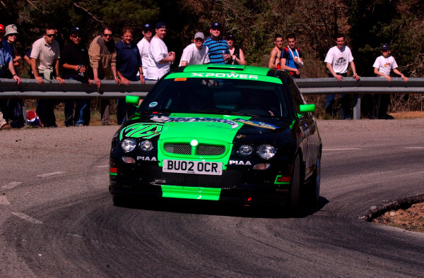 2002 World Rally ChampionshipRally Catalunya, 21st-24th March 2002.Gwyndaf Evans during shakedown.Photo: Ralph Hardwick/LAT