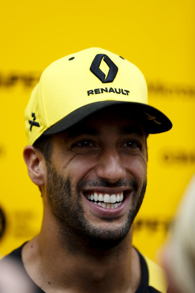 Daniel Ricciardo, Renault F1 Team speaks to the media
