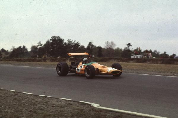 1968 United States Grand Prix.Watkins Glen, New York, USA.4-6 October 1968.Bruce McLaren (McLaren M7A Ford) 6th position.Ref-68 USA 07.World Copyright - LAT Photographic