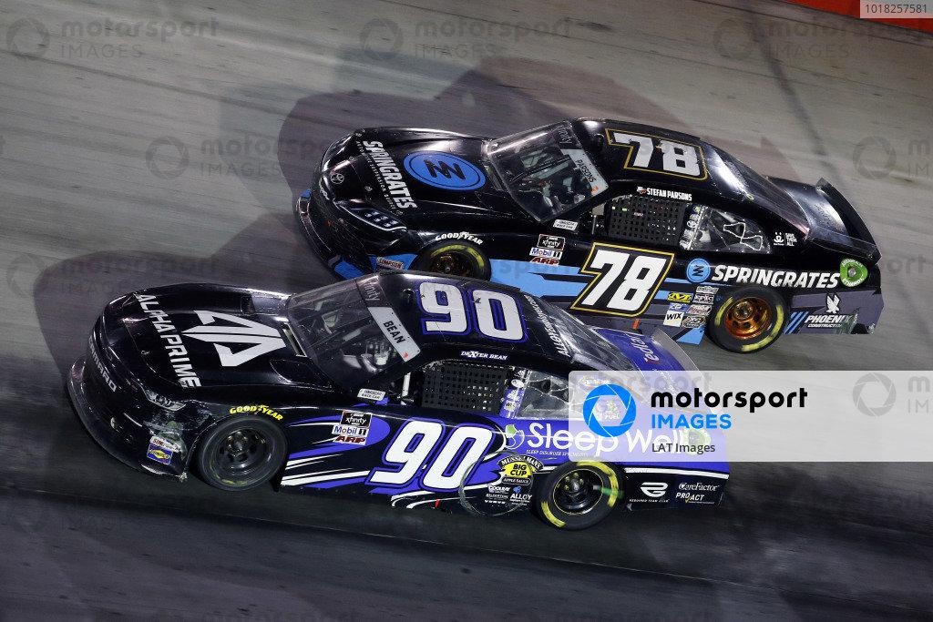 #90: Dexter Bean, DGM Racing, Chevrolet Camaro Sleep Well/Alpha Prime and #78: Stefan Parsons, B.J. McLeod Motorsports, Toyota Supra Springrates