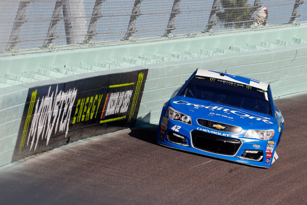 Monster Energy NASCAR Cup Series Ford EcoBoost 400 Homestead-Miami Speedway, Homestead, FL USA Sunday 19 November 2017 Kyle Larson, Chip Ganassi Racing, Credit One / DC Solar Chevrolet SS World Copyright: Russell LaBounty LAT Images