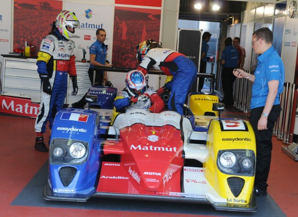 2008 Le Mans 24 Hours, Le Mans, France9th-15th JuneCourage Oreca-Judd Driver Change RehearsalWorldwide copyright: Dave Friedman/LAT PhotographicRef; Digital Image Only
