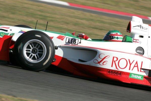 Khalil Beschir (LEB) A1 Team Lebanon  A1GP Official Testing, Day One, Silverstone, England, 18 September 2007.