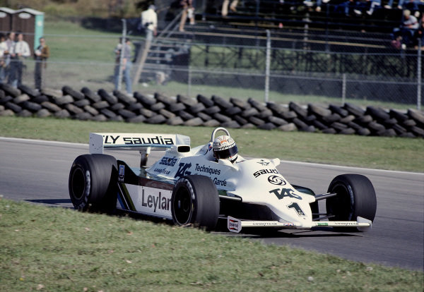1981 Canadian Grand Prix.Montreal, Quebec, Canada.25-27 September 1981.Alan Jones (Williams FW07C Ford).Ref-81 CAN 36.World Copyright - LAT Photographic