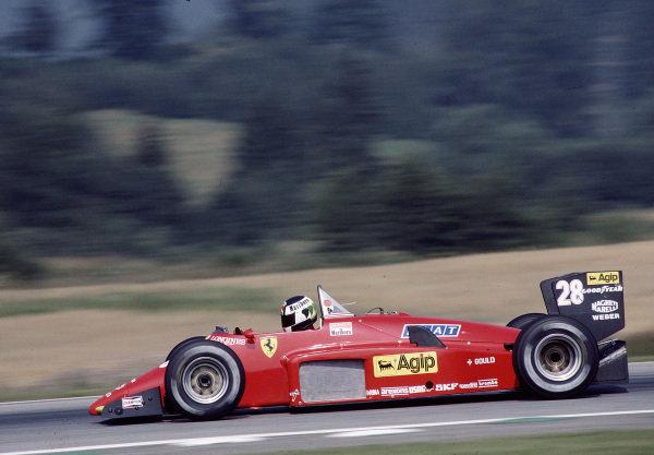 1985 Austrian Grand Prix.Osterreichring, Zeltweg, Austria.16-18 August 1985.Stefan Johansson (Ferrari 156/85) 4th position.Ref-85 AUT 31.World Copyright - LAT Photographic