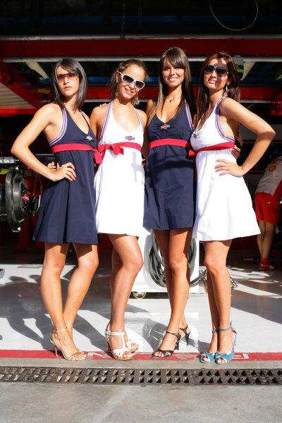 2007 Italian Grand Prix - ThursdayAutodromo di Monza, Monza, Italy.6th September 2007.Martini girls on show in the paddock. Glamour. Atmosphere.World Copyright: Lorenzo Bellanca/LAT Photographicref: Digital Image ZD2J6001