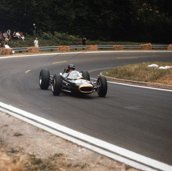 Rouen-les-Essarts, France.26-28 June 1964.Dan Gurney (Brabham BT7 Climax) 1st position.Ref-3/1287.World Copyright - LAT Photographic