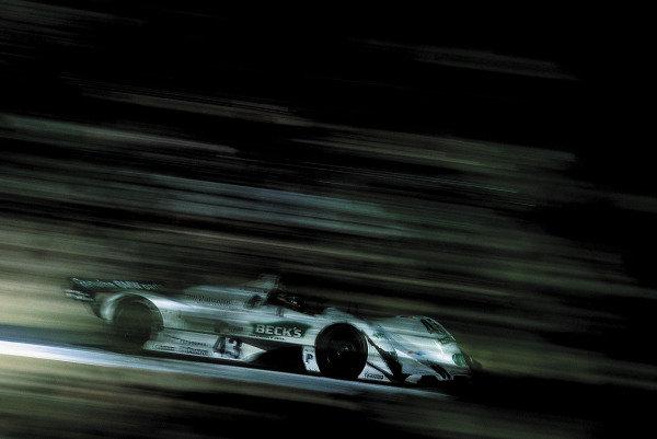 1999 American Le Mans Series.  Laguna Seca, Monterey, California, USA. 10th October 1999.  Bill Auberlen/Joachim Winkelhock (BMW V12 LMR), 3rd position, action.  World Copyright: Gavin Lawrence/LAT Photographic. Ref: Colour Transparency.