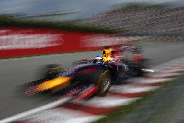 Circuit Gilles Villeneuve, Montreal, Canada. Friday 6 June 2014. Sebastian Vettel, Red Bull Racing RB10 Renault. World Copyright: Glenn Dunbar/LAT Photographic. ref: Digital Image _W2Q4329