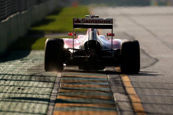 Albert Park, Melbourne, Australia. Friday 14 March 2014. Kimi Raikkonen, Ferrari F14T. World Copyright: Alastair Staley/LAT Photographic. ref: Digital Image _R6T8142