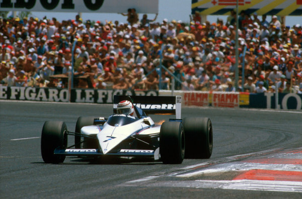 Paul Ricard, France. 5-7 July 1985. Nelson Piquet (Brabham BT54 BMW) 1st position. First win for Pirelli tyres since 1957.  Ref-85 FRA 05. World Copyright - LAT Photographic