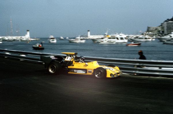 ref: 35mm 73 MON 241973 Monaco Grand Prix.Monte Carlo, Monaco.31/5-3/6 1973.Mike Beuttler (March 721G Ford).Ref-35mm 73 MON 24.World Copyright - LAT Photographic