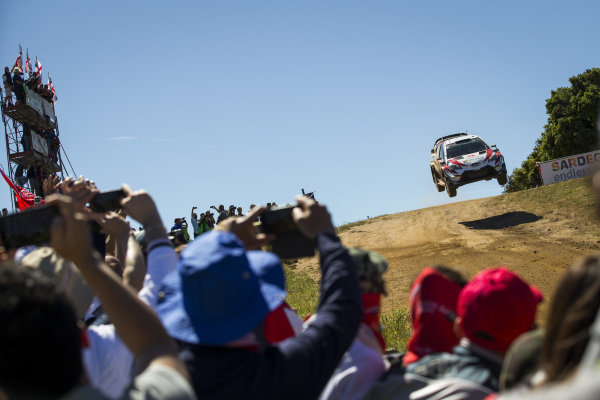 Jari Matti Latvala gets some air over Mickey's Jump