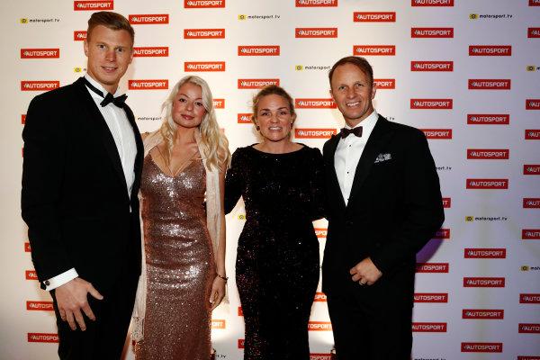 2017 Autosport Awards Grosvenor House Hotel, Park Lane, London. Sunday 3 December 2017. Johan Kristoffersson and Petter Solberg with guests. World Copyright: Glenn Dunbar/LAT Images Ref: Digital Image _31I1484