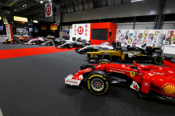 Autosport International Exhibition. National Exhibition Centre, Birmingham, UK. Sunday 14th January, 2018. The F1 Racing Stand. World Copyright: Joe Portlock/LAT Images Ref: _U9I1480