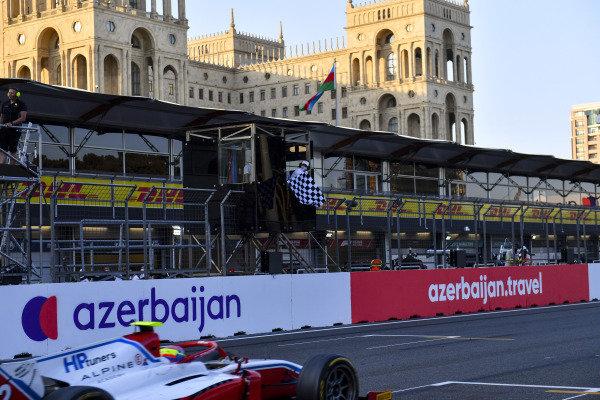 Oscar Piastri (AUS, Prema Racing), passes the chequered flag