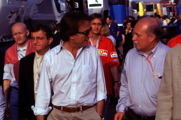 1999 San Marino Grand Prix.Imola, Italy. 30/4-2/5 1999.Ferrari President Luca di Montezemolo.World Copyright - LAT Photographic