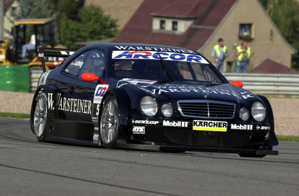 2000 DTM Championship.Sachsenring, Germany.6 August 2000. Rd 5/10.Veteran Klaus Ludwig (Mercedes-Benz CLK), 1st position in both races.World - Hardwick/LAT Photographic