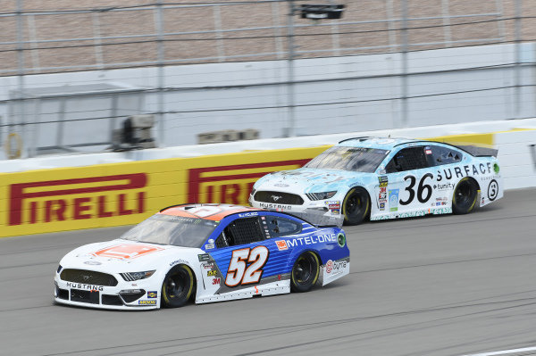 #52: B.J. McLeod, Rick Ware Racing, Ford Mustang Mtel-One, #36: Matt Tifft, Front Row Motorsports, Ford Mustang Surface Sunscreen / Tunity