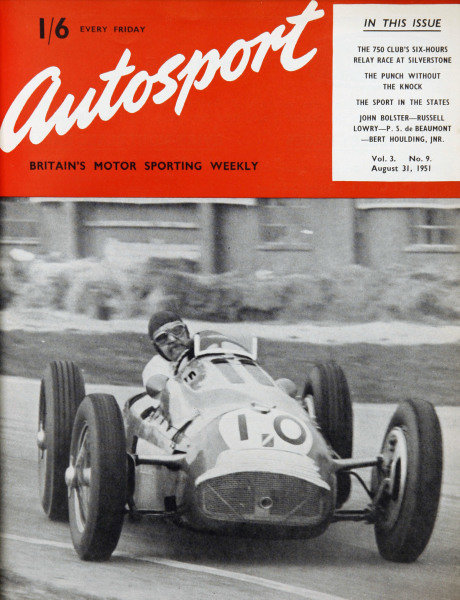 Cover of Autosport magazine, 31st August 1951