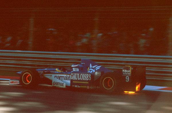 Monza, Italy.6-8 September 1996.Olivier Panis (Ligier JS43 Mugen-Honda) 10th position.Ref-96 ITA 23.World Copyright - LAT Photographic