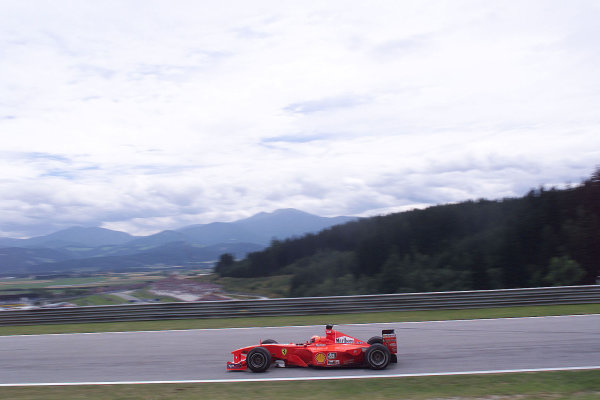 2000 Austrian Grand Prix.A1-Ring, Zeltweg, Austria.14-16 July 2000.Michael Schumacher (Ferrari F1-2000).World Copyright - LAT Photographic