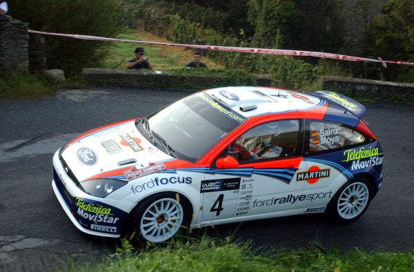 2002 World Rally Championship.Rallye d'Italia, 20-22 September.Sanremo, Italy.Carlos Sainz during shakedown.Photo: Ralph Hardwick/LAT