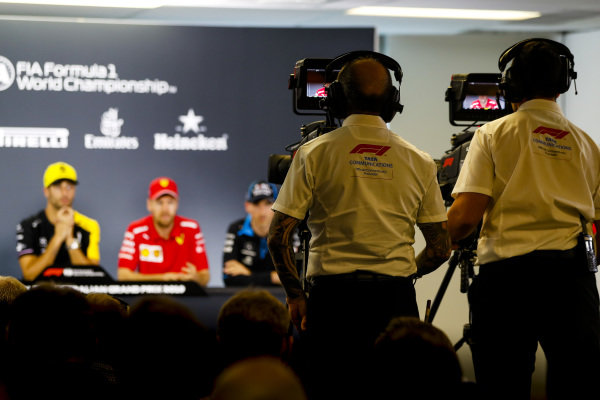 Camera operators during Press Conference