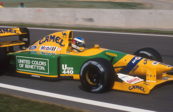 1992 Spanish Grand Prix.Catalunya, Barcelona, Spain.1-3 May 1992.Michael Schumacher (Benetton B192 Ford) 2nd position.Ref-92 ESP 14.World Copyright - LAT Photographic