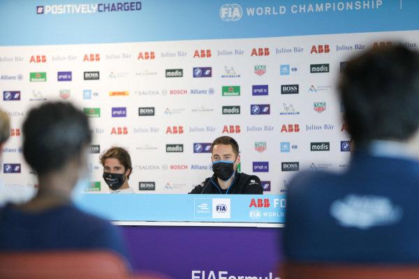Antonio Felix da Costa (PRT) DS Techeetah and Stoffel Vandoorne (BEL) Mercedes Benz EQ, in the press conference
