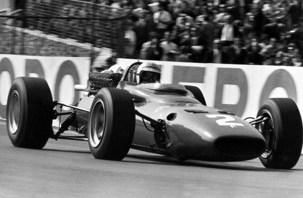 1967 Belgian Grand Prix.Spa-Francorchamps, Belgium. 18 June 1967.Ludovico Scarfiotti, Ferrari 312, not classified, action.World Copyright: LAT PhotographicRef: Motor b&w print