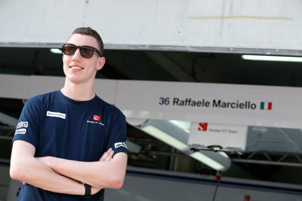 Sepang International Circuit, Sepang, Kuala Lumpur, Malaysia. Thursday 26 March 2015. Raffaele Marciello, Test and Reserve Driver, Sauber. World Copyright: Alastair Staley/LAT Photographic. ref: Digital Image _R6T3506