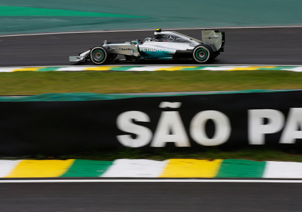 Interlagos, Sao Paulo, Brazil. Friday 7 November 2014. Nico Rosberg, Mercedes F1 W05 Hybrid. World Copyright: Charles Coates/LAT Photographic. ref: Digital Image _J5R2355