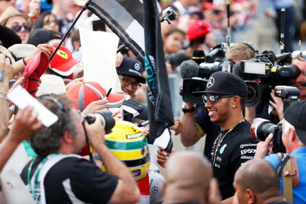 Circuit Gilles Villeneuve, Montreal, Canada. Sunday 7 June 2015. Lewis Hamilton, Mercedes AMG. World Copyright: Alastair Staley/LAT Photographic. ref: Digital Image _R6T0204